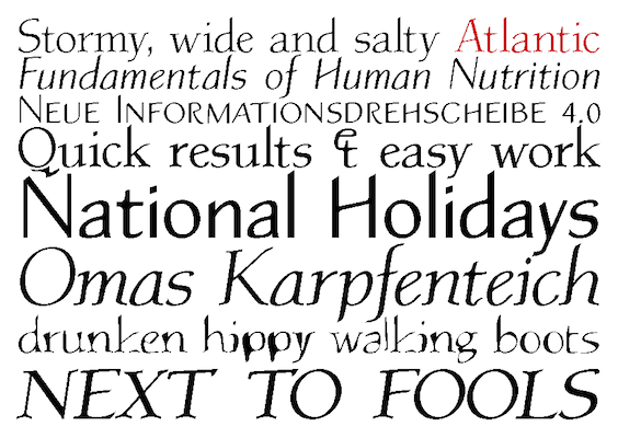 Atlantic. The modern classic typeface by Ekke Wolf